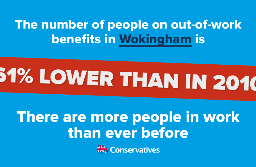 Unemployment Falls in Wokingham