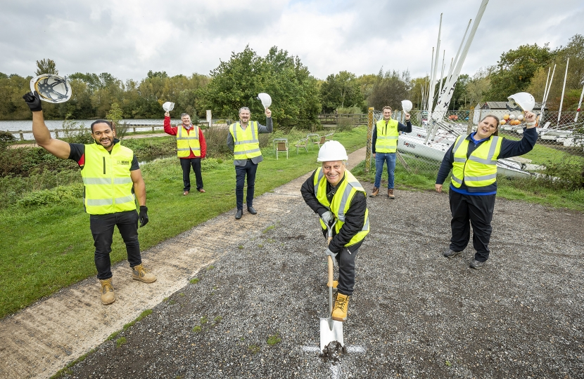 parry breaks ground