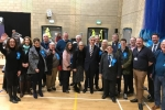 Wokingham Conservative team at the count.
